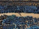 Китайское кладбище велосипедов: вид сверху