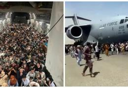 Американский транспортник эвакуировал 640 афганцев в Катар