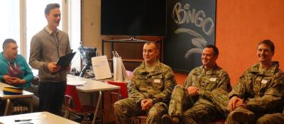 Американские солдаты пришли в гости к студентам НКТУ