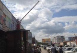 Шлагбаум в Новосибирске