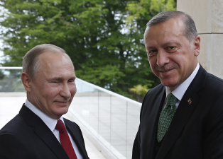 Путин поздравил Эрдогана с победой