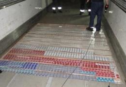 На границе в Нарве изъяли 160 000 контрабандных сигарет