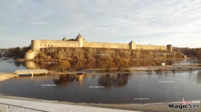 Ивангородскую крепость подсветят