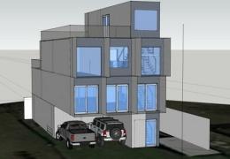 Американец взял 11 грузовых контейнеров и сделал из них трехэтажный дом