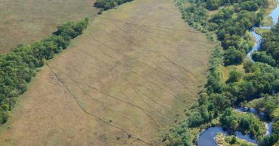 Угадайте, что это за линии в поле?