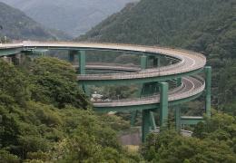 Кавацу-Нанадару – мост-петля в Японии