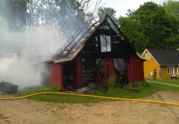 В Южной Эстонии удары молнии вызвали несколько пожаров