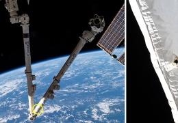Космический мусор повредил дистанционный манипулятор на МКС