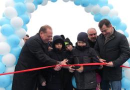 В селе открыли пластиковый мост, который на зиму уберут