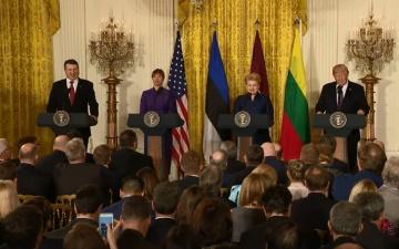 Трамп подтвердил лояльность США к странам Балтии и пообещал помогать в сдерживании России