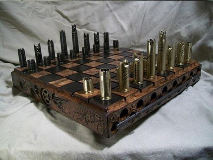 Подарочный набор шахмат из гильз
