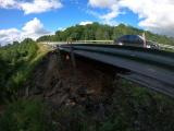 Дорожные строители начнут 23 июля заделывать обвал насыпи в Падаорге