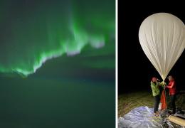 Фотограф запечатлел северное сияние, запустив камеру в стратосферу