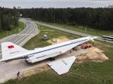 Транспортировка Ту-144 в Жуковском