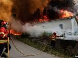 Мощные лесные пожары в Португалии