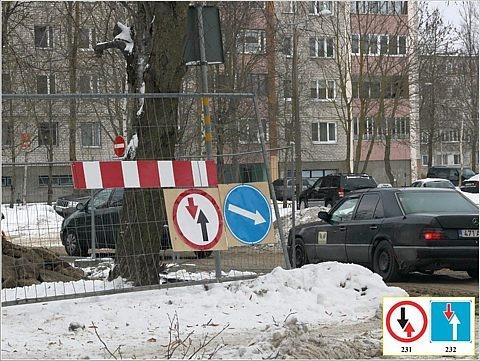 В Нарве знаки ставят по-нарвски, а не согласно ПДД