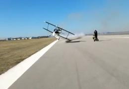 Экстремальный трюк пилота США довел женщину до истерики
