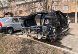 В Москве за одну ночь злоумышленники разобрали BMW Х6