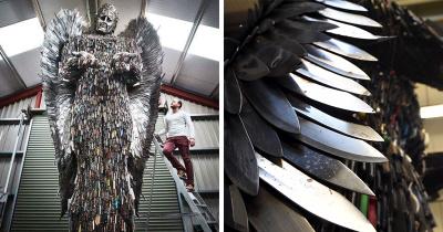Ангел из ножей призывает прекратить насилие