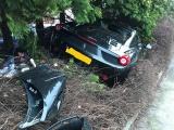 Ferrari 458 Spider въехал в сад