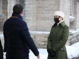ФОТО: президент Эстонии Керсти Кальюлайд посетила Нарвскую больницу