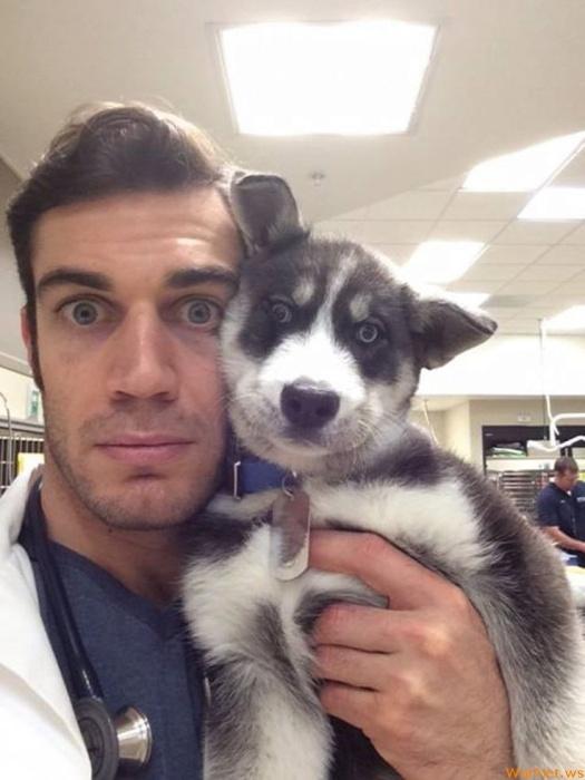 Ветеринар, который действительно любит свою работу
