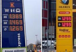 Цена дизтоплива в Эстонии опередила Финляндию, бензин пока стоит дешевле