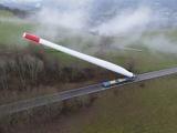 Вот так перевозят лопасти для ветрогенераторов