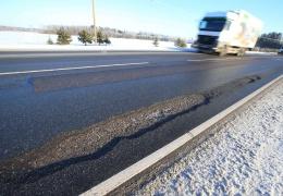 На шоссе Таллинн-Нарва в воскресенье есть опасные для движения участки