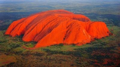 Красная гора, природа Австралии, гора Улуру, Айерс рок