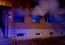 В Кохтла-Ярве спасли при пожаре двух человек