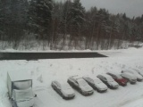 Пришла зима - самое время для укладки асфальта