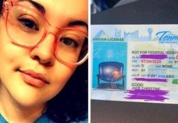 Девушка получила водительские права с фотографией стула