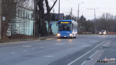 Число автобусных рейсов на маршруте Нарва - Нарва-Йыэсуу сократилось на три в день
