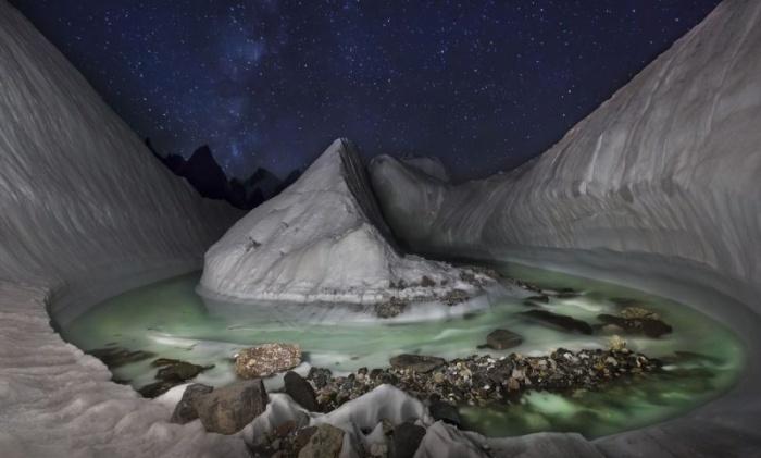 Удивительные снимки гор в Пакистане с беспилотника
