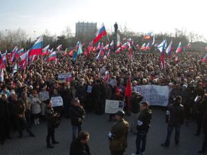 На Украине протестуют против начатой новыми властями борьбы с русским языком