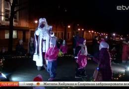 В Нарве заработала Рождественская аллея