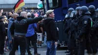 В саксонском Хемнице повторились беспорядки недельной давности, снова десятки задержанных