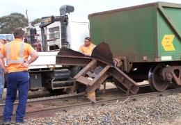 У товарняка порвался вагон