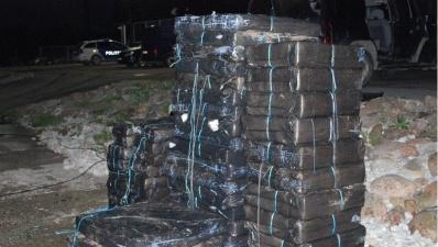 В Нарвском заливе обнаружили крупную партию контрабандных сигарет