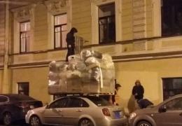 Необычный способ перевозки вещей
