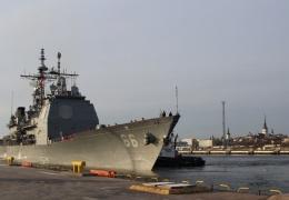 В Таллинн прибыл американский военный корабль USS Hue City