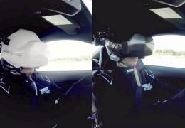 Реальный заезд в шлемах виртуальной реальности (видео)