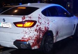 «Окровавленный» BMW на улицах Берлина