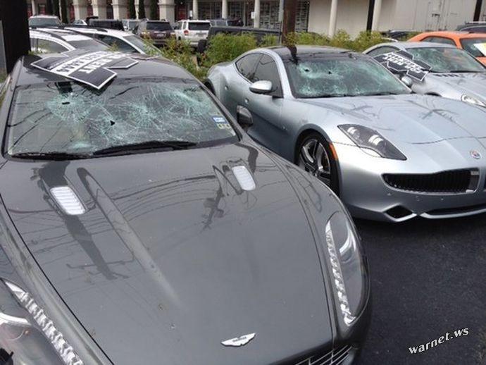 Голый техасец расстрелял автомобилей на 200 тысяч долларов