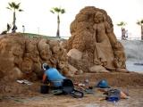 На Международном фестивале песчаных скульптур мастера постарались на славу