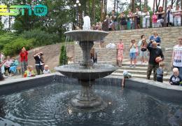 В Усть-Нарве открылся новый фонтан