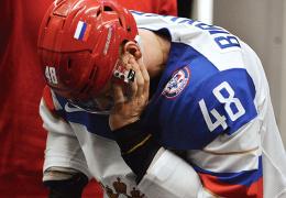 Российскому защитнику сломали челюсть на чемпионате мира по хоккею