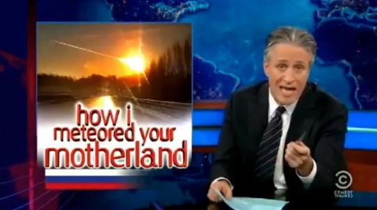 The Daily Show про метеорит и крейзи рашнс