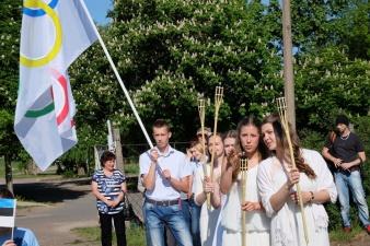 В Нарве проходит трехдневный олимпийский праздник.